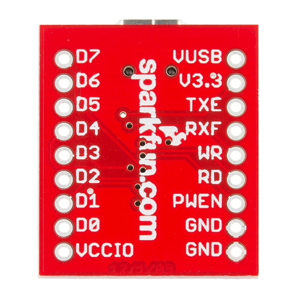 Breakout Board for FT245RL USB to FIFO Rear View