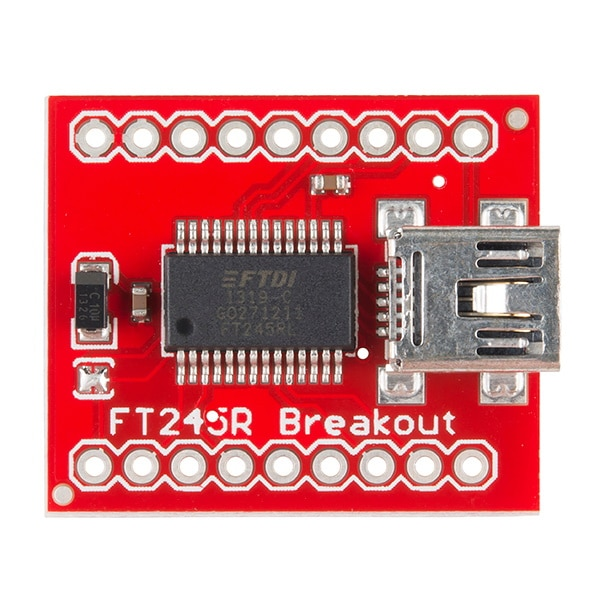 Breakout Board for FT245RL USB to FIFO Top View