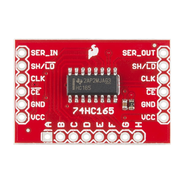 Breakout Board for SN74HC165 Top View