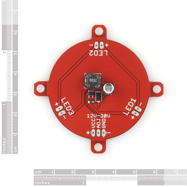 Luxeon Rebel LED Single Driver Dimensions